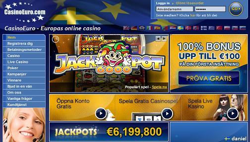 CasinoEuro välkomstbonus - klicka här!
